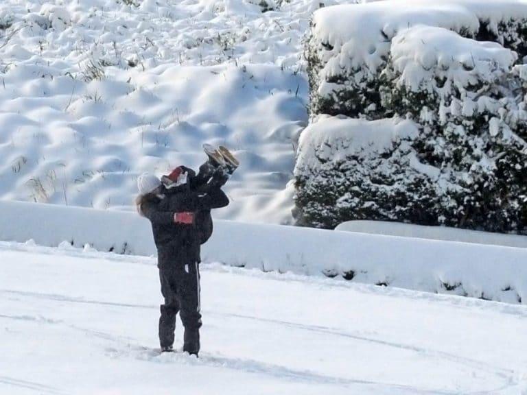 batailles dans la neige
