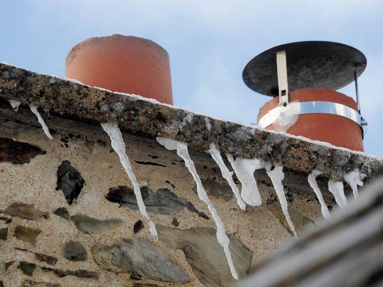 cheminées gelées